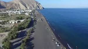 perissa beach in santorini island is among the top 10 black sand