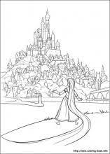 tangled coloring pages printable google kids