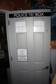 Tardis Interior Door Envy Of The Neighborhood Dr Who Tardis Door Decals Geekologie