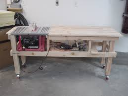 how to build a table saw workstation innovative skil x bench saw and router table extension project the
