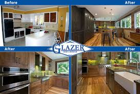 Kitchen Before And After by Home Renovation Before And After Glazer Construction Atlanta