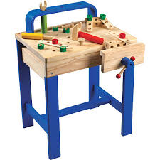 Toddler Tool Benches Build Dramatic Play And Fine Motor Skills With A Wooden Workbench