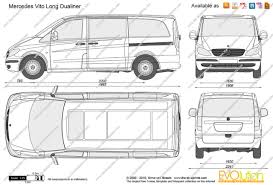 mercedes length the blueprints com vector drawing mercedes vito dualiner