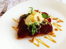 cuisine gordon ramsay opal s beetroot tart is one of my favorite dishes picture of opal