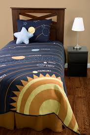 Space Bed Set Solar System Bedding Outer Space 4pc Comforter Set Navy