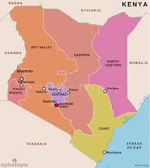 map of province kenya provinces map provinces map of kenya kenya country