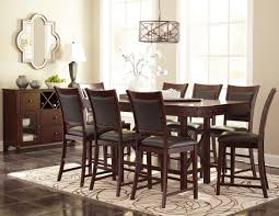 Counter Height Dining Room Sets Collenburg Brown Extendable Counter Height Dining Room Set From