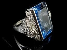 antiques atlas art deco french ring boasting a 20ct blue spinel