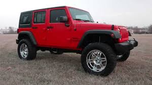 jeep custom wheels 2015 jeep wrangler sport flame red 4 5