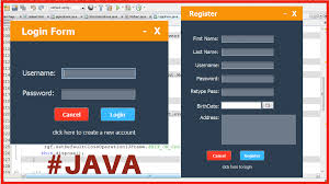 design form using php java login and register form design c java php programming