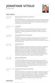 Event Coordinator Resume Sample by Business Development Coordinator Resume Samples Visualcv Resume