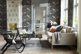 wallpaper livingroom traditional floral wallpaper living room design ideas