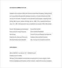 Sql Dba Resume Sample by Database Administrator Resume Template 15 Free Samples