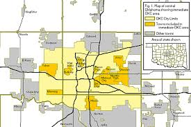 okc zip code map figure 1 map of central oklahoma showing the immediate oklahoma