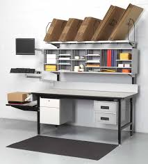 packing table with shelves i like this packing station for the divided wall unit to store a