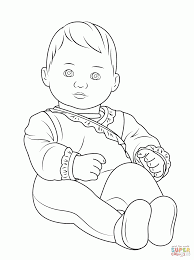 coloring pages cartoon baby doll coloring home