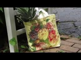 decoupage blog tutorial annie sloan chalk paint and decoupage over a canvas bag website