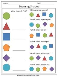 learning shapes worksheet free worksheets library download and