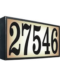 get the deal qualarc large lighted address plaque