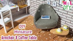 How To Build An Armchair Diy Miniature Armchair And Coffee Table How To Make An Armchair