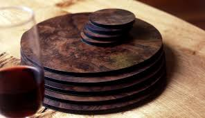 table mats and coasters burr wood place mats and coasters by west s of east dean