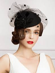 lace fascinator retro costume fascinator hat black lace wool flowers women s