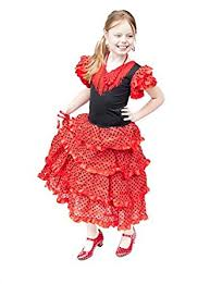 amazon com la senorita spanish flamenco dress fancy dress costume