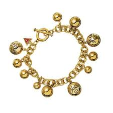 gold plated bracelet charms images Guess gold plated bauble charm bracelet john greed jewellery jpg