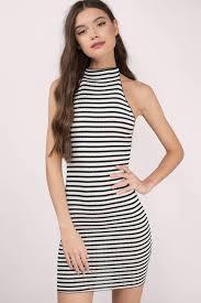 black and white dresses striped dresses long dresses