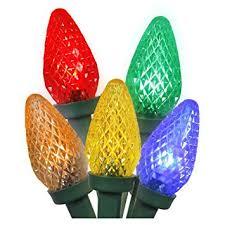 vickerman 25 light multi colored c7 led light set on