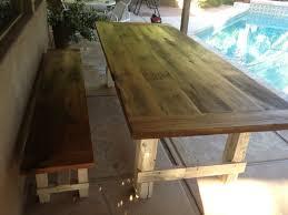 Wood Patio Furniture Sets - reclaimed oak farmhouse patio table w bench porter barn wood