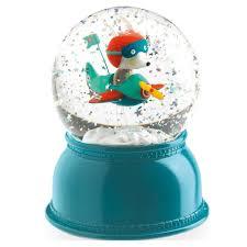 baptism snow globes djeco aeroplane light snow globe woodland toys