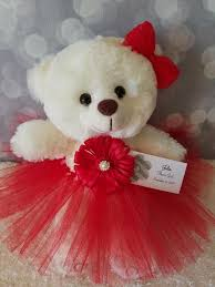 flower girl teddy gift flower girl gift teddy in tutu dress color the lovely