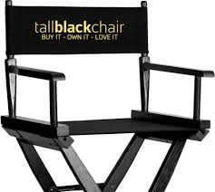 custom makeup director chairs tall black chair