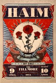 haim the fillmore april 9 10 2014 poster amoeba