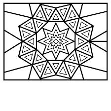magnificent complex coloring pages kids shape coloring