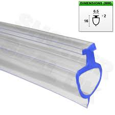 shower glass door seal bottom soft rubber channel seal for bifold fold folding bath