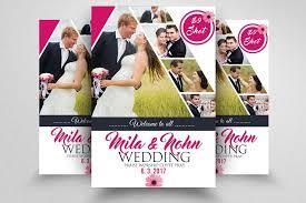 wedding flyer wedding flyer template flyer templates creative market