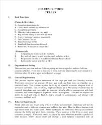 Bank Teller Objective Resume Examples by Teller Job Resume Cv Cover Letter