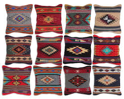aztec throw pillow covers 18 x 18 hand woven in southwest and