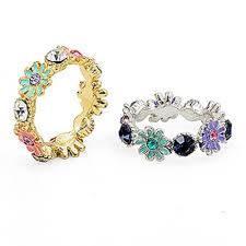 fashion jewellery rings images Korea fashion jewellery flower rhinestone ring flower rings rings jpg