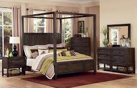 Canopy Bedroom Sets Bedroom Dark Brown Canopy Bedroom Sets With Wall Lights And Rug