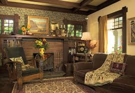 craftsman bungalow interior home design ideas the brick tile fireplace integrated bookcases honest trim and ceiling