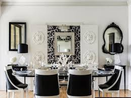 dining room black and white table marble high gloss chairs cheap