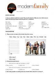 english worksheets video session halloween modern family