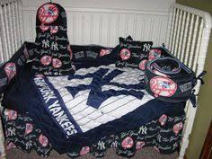 Yankees Crib Bedding Upscale New York Yankees Baby Crib Bedding Set Custom Made To