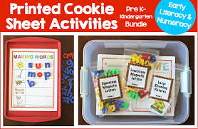 printed pre k k cookie sheet bundle make take u0026 teach