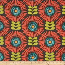 Fringe Home Decor by Michael Miller Hashmark Fringe Flowers Clementine Discount