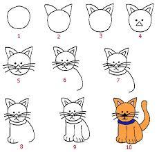 imágenes de gatos fáciles para dibujar como dibujar animales faciles para niños mariana pinterest