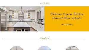 Kitchen Cabinet Retailers by Kitchen Cabinet Store Website Templates Godaddy